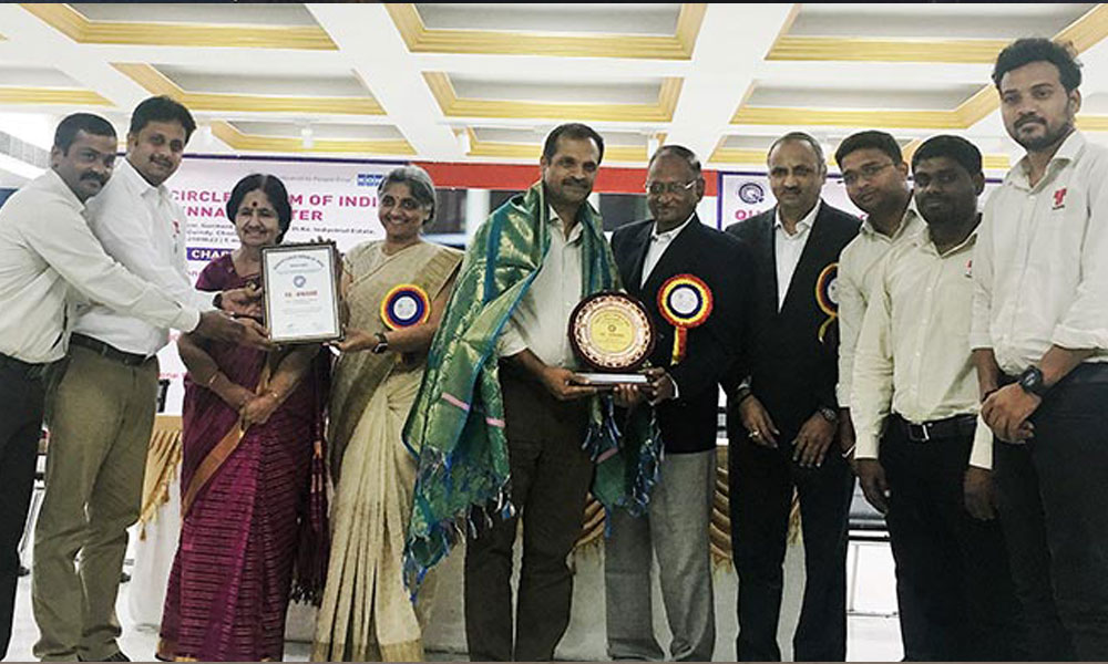 Thermax's Absorption Cooling and Heating division's state-of-the-art manufacturing facility in Sri City, Andhra Pradesh receives a '5S Gold' award from the Quality Circle Forum of India.
