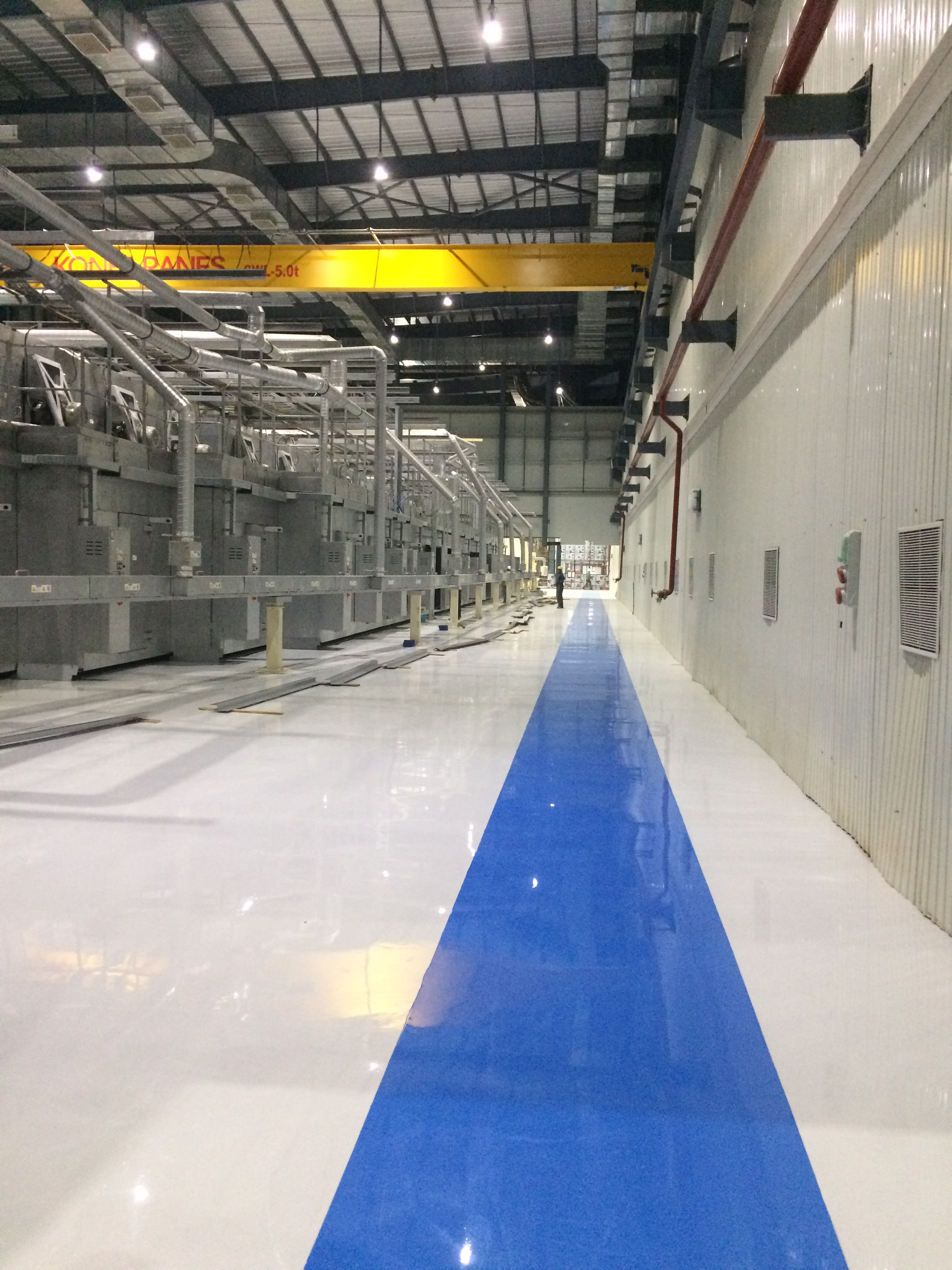 Construction chemicals for industrial flooring