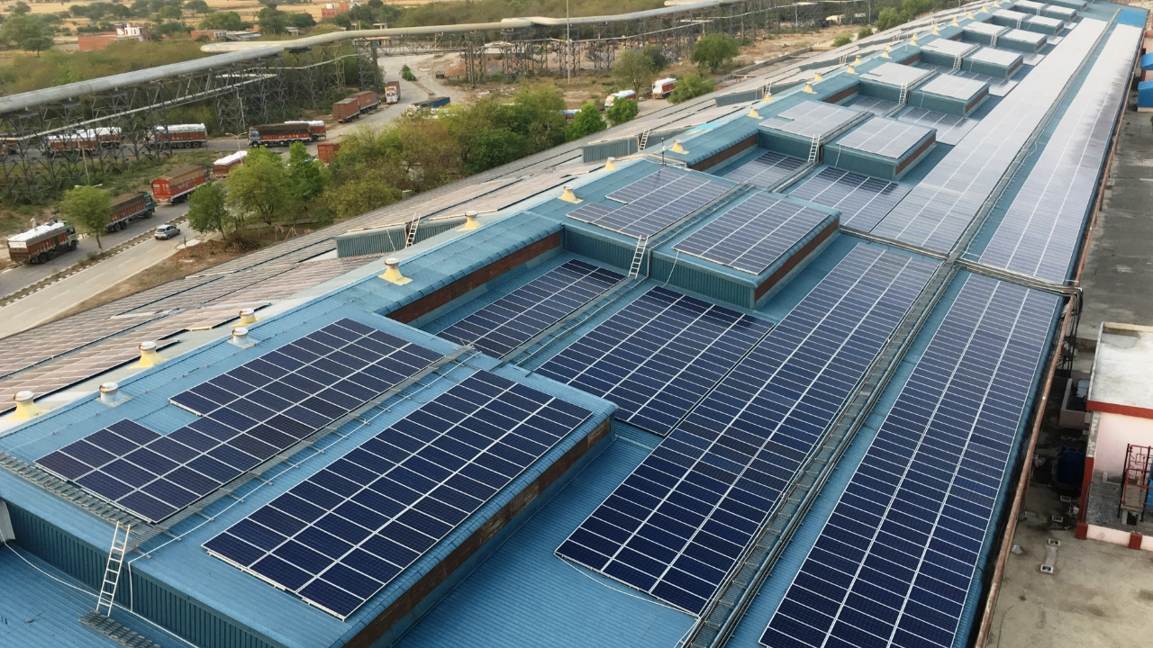 Commissions a rooftop solar PV project for GAIL