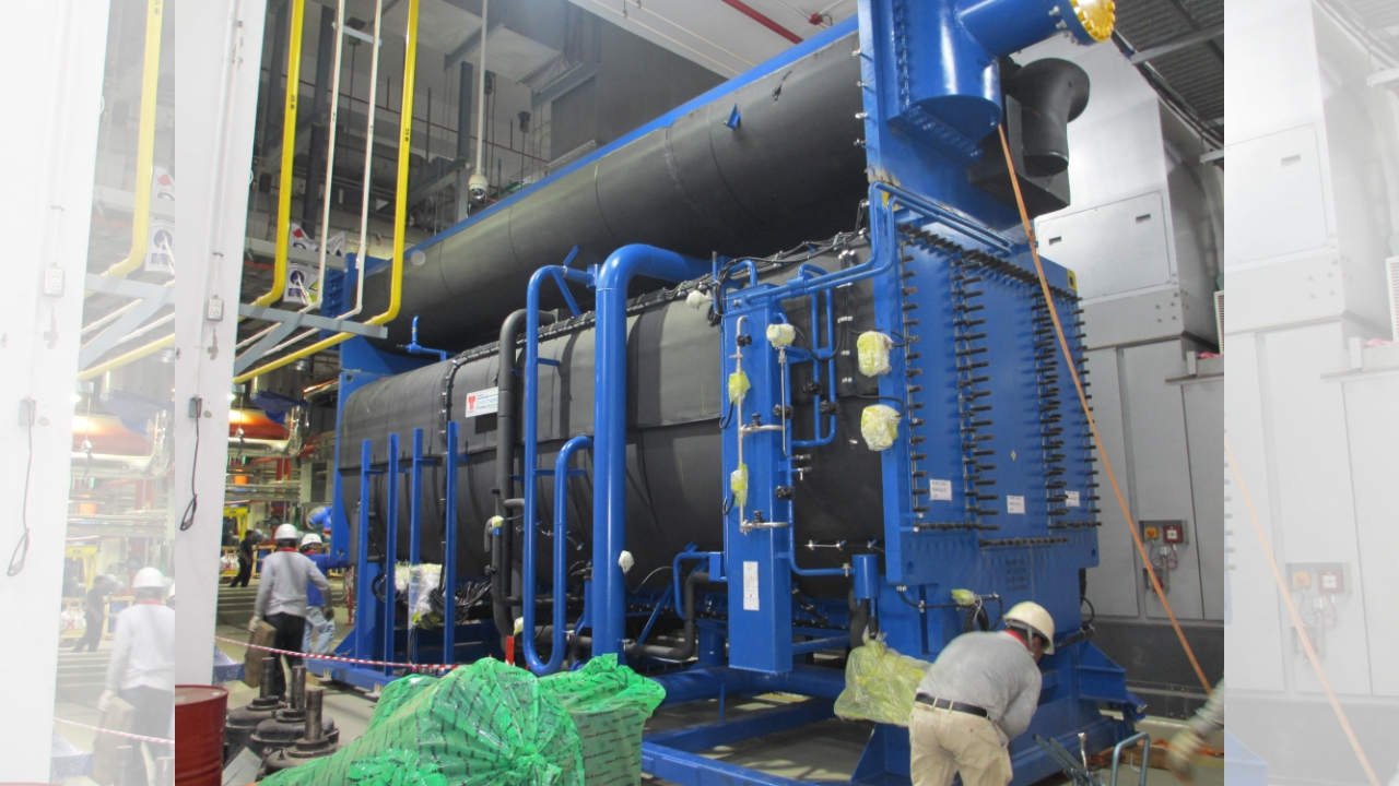 Thermax chillers in a petrochemical plant
