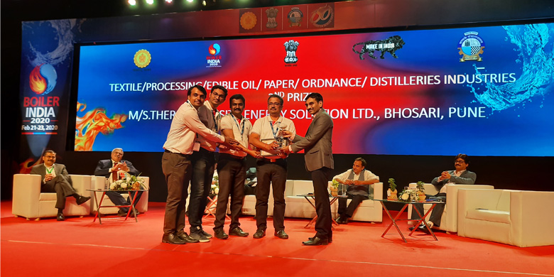 Thermax Onsite Energy Solutions Limited (TOESL) bags a second prize in the 'Best Boiler User 2020' category at the recently concluded Boiler India 2020.